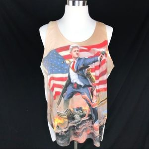 Bill Clinton Monica lewinsky tank top size XXL